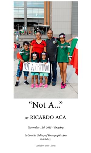 """Not A"" By Ricardo Aca"