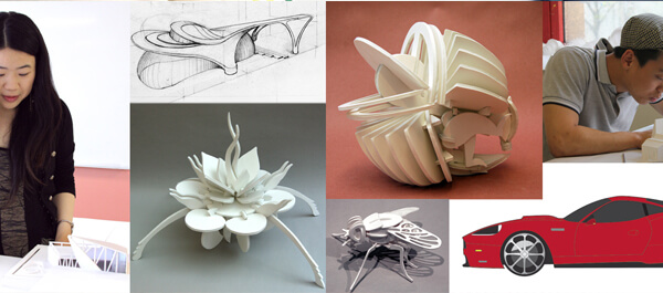 Collage of Student work from the Industrial Design class