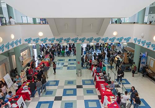 Campus Events hosted on the E-Bulding Atrium