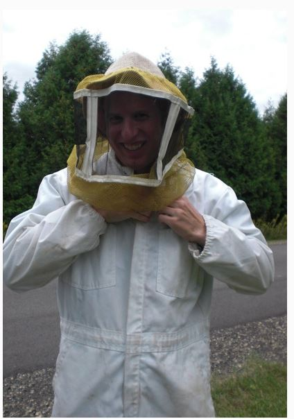 Professor Benjamin Taylor in Bee Suit Photo
